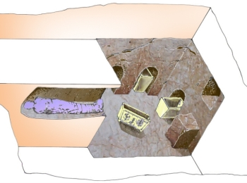 A diagram of the Tomb of the Shroud (Diagram by Prof. Shimon Gibson)