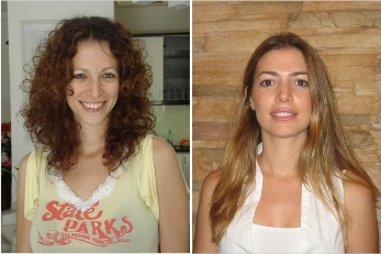 Doctoral students Irit Carmi-Levy (left) and Nurit Yannay-Cohen